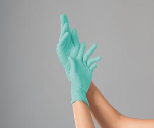 Перчатки нитриловые GREEN MINT Polix PRO&MED