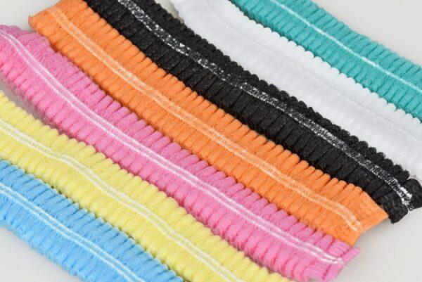 Шапочки одноразовые одуванчик на двойной резинке 100 шт/пач