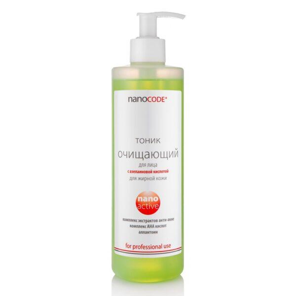 Тоник очищающий с Азелаиновой кислотой для жирной кожи NANOCODE 500 мл