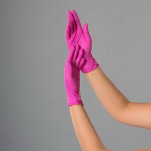 Перчатки нитриловые розовые Polix PRO&MED 100шт./уп.