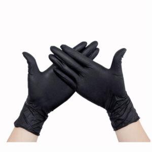 Перчатки нитриловые черные Polix PRO&MED 100шт./уп.